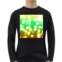 Soft Lights Bokeh 3 Long Sleeve Dark T Shirts