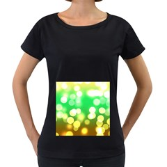 Soft Lights Bokeh 3 Women s Loose Fit T Shirt (black)