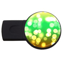 Soft Lights Bokeh 3 Usb Flash Drive Round (4 Gb)