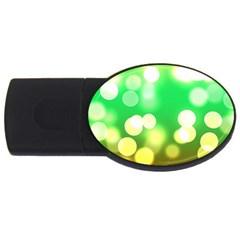 Soft Lights Bokeh 3 Usb Flash Drive Oval (4 Gb)