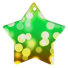 Soft Lights Bokeh 3 Star Ornament (two Sides)