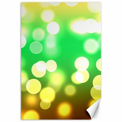 Soft Lights Bokeh 3 Canvas 12  X 18