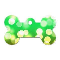 Soft Lights Bokeh 3 Dog Tag Bone (one Side)