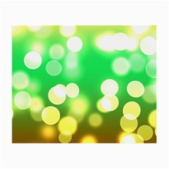 Soft Lights Bokeh 3 Small Glasses Cloth (2 Side)