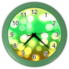 Soft Lights Bokeh 3 Color Wall Clocks