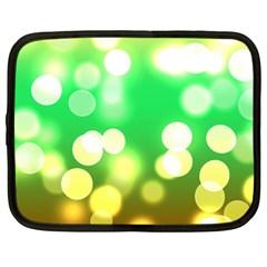 Soft Lights Bokeh 3 Netbook Case (large)