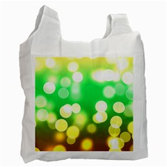 Soft Lights Bokeh 3 Recycle Bag (one Side)
