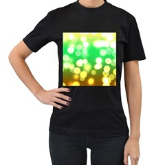 Soft Lights Bokeh 3 Women s T Shirt (black)