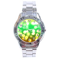 Soft Lights Bokeh 3 Stainless Steel Analogue Watch