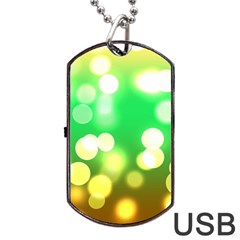 Soft Lights Bokeh 3 Dog Tag Usb Flash (two Sides)