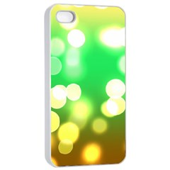 Soft Lights Bokeh 3 Apple Iphone 4/4s Seamless Case (white)