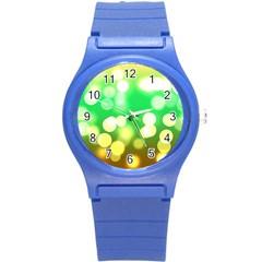 Soft Lights Bokeh 3 Round Plastic Sport Watch (s)