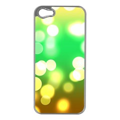 Soft Lights Bokeh 3 Apple Iphone 5 Case (silver)