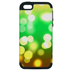Soft Lights Bokeh 3 Apple Iphone 5 Hardshell Case (pc+silicone)