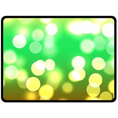 Soft Lights Bokeh 3 Double Sided Fleece Blanket (large)