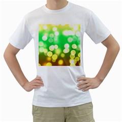 Soft Lights Bokeh 3 Men s T Shirt (white)