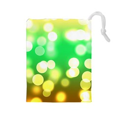 Soft Lights Bokeh 3 Drawstring Pouches (large)