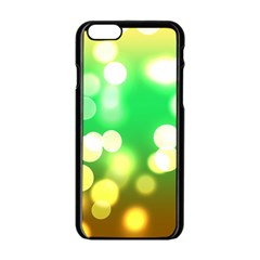 Soft Lights Bokeh 3 Apple Iphone 6/6s Black Enamel Case