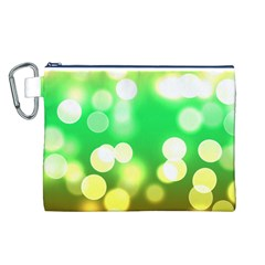 Soft Lights Bokeh 3 Canvas Cosmetic Bag (l)