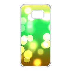 Soft Lights Bokeh 3 Samsung Galaxy S7 Edge White Seamless Case