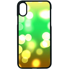 Soft Lights Bokeh 3 Apple Iphone X Seamless Case (black)