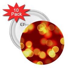 Soft Lights Bokeh 4 2 25  Buttons (10 Pack)