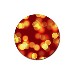 Soft Lights Bokeh 4 Rubber Round Coaster (4 Pack)