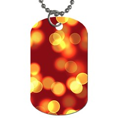 Soft Lights Bokeh 4 Dog Tag (two Sides)