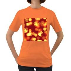 Soft Lights Bokeh 4 Women s Dark T Shirt