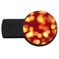 Soft Lights Bokeh 4 Usb Flash Drive Round (4 Gb)
