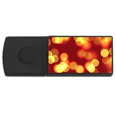 Soft Lights Bokeh 4 Rectangular Usb Flash Drive