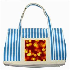 Soft Lights Bokeh 4 Striped Blue Tote Bag
