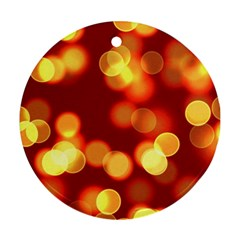 Soft Lights Bokeh 4 Round Ornament (two Sides)