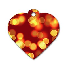 Soft Lights Bokeh 4 Dog Tag Heart (two Sides)