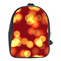Soft Lights Bokeh 4 School Bag (large)