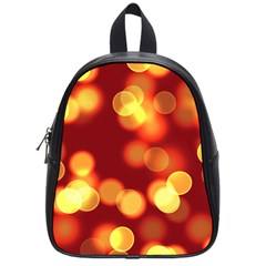 Soft Lights Bokeh 4 School Bag (small)