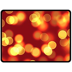 Soft Lights Bokeh 4 Fleece Blanket (large)