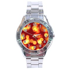 Soft Lights Bokeh 4 Stainless Steel Analogue Watch