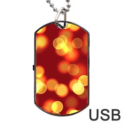 Soft Lights Bokeh 4 Dog Tag Usb Flash (two Sides)