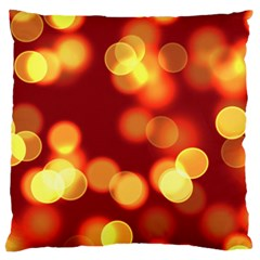 Soft Lights Bokeh 4 Large Cushion Case (two Sides)