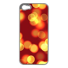 Soft Lights Bokeh 4 Apple Iphone 5 Case (silver)