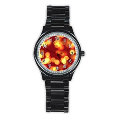 Soft Lights Bokeh 4 Stainless Steel Round Watch