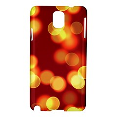 Soft Lights Bokeh 4 Samsung Galaxy Note 3 N9005 Hardshell Case
