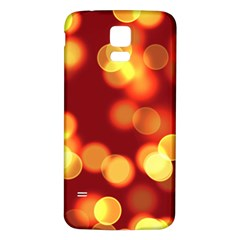 Soft Lights Bokeh 4 Samsung Galaxy S5 Back Case (white)