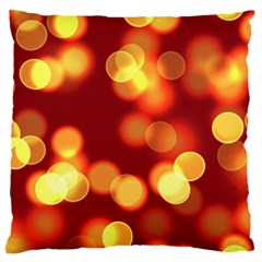 Soft Lights Bokeh 4 Large Flano Cushion Case (two Sides)