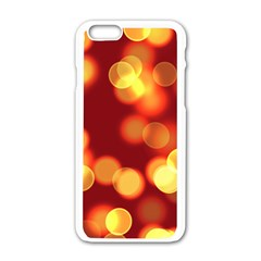 Soft Lights Bokeh 4 Apple Iphone 6/6s White Enamel Case