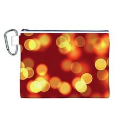 Soft Lights Bokeh 4 Canvas Cosmetic Bag (l)