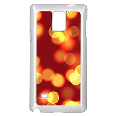 Soft Lights Bokeh 4 Samsung Galaxy Note 4 Case (white)