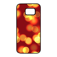 Soft Lights Bokeh 4 Samsung Galaxy S7 Edge Black Seamless Case