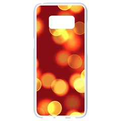 Soft Lights Bokeh 4 Samsung Galaxy S8 White Seamless Case